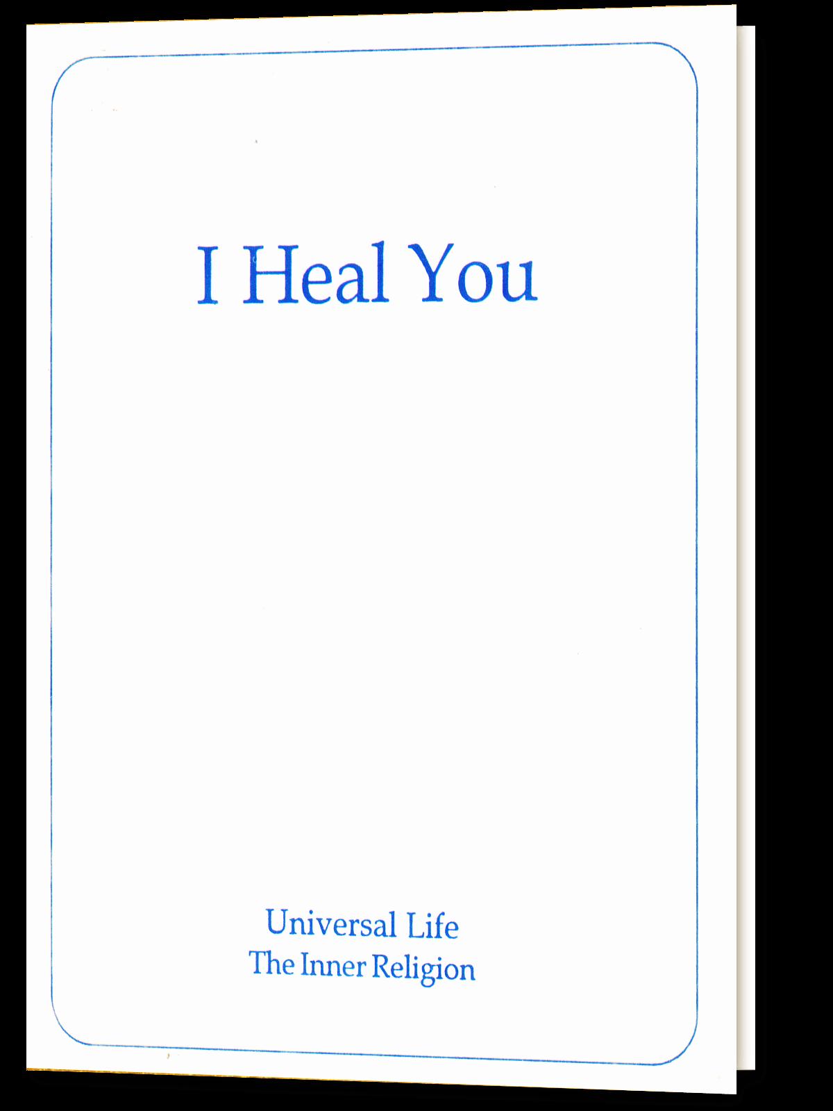 I Heal You