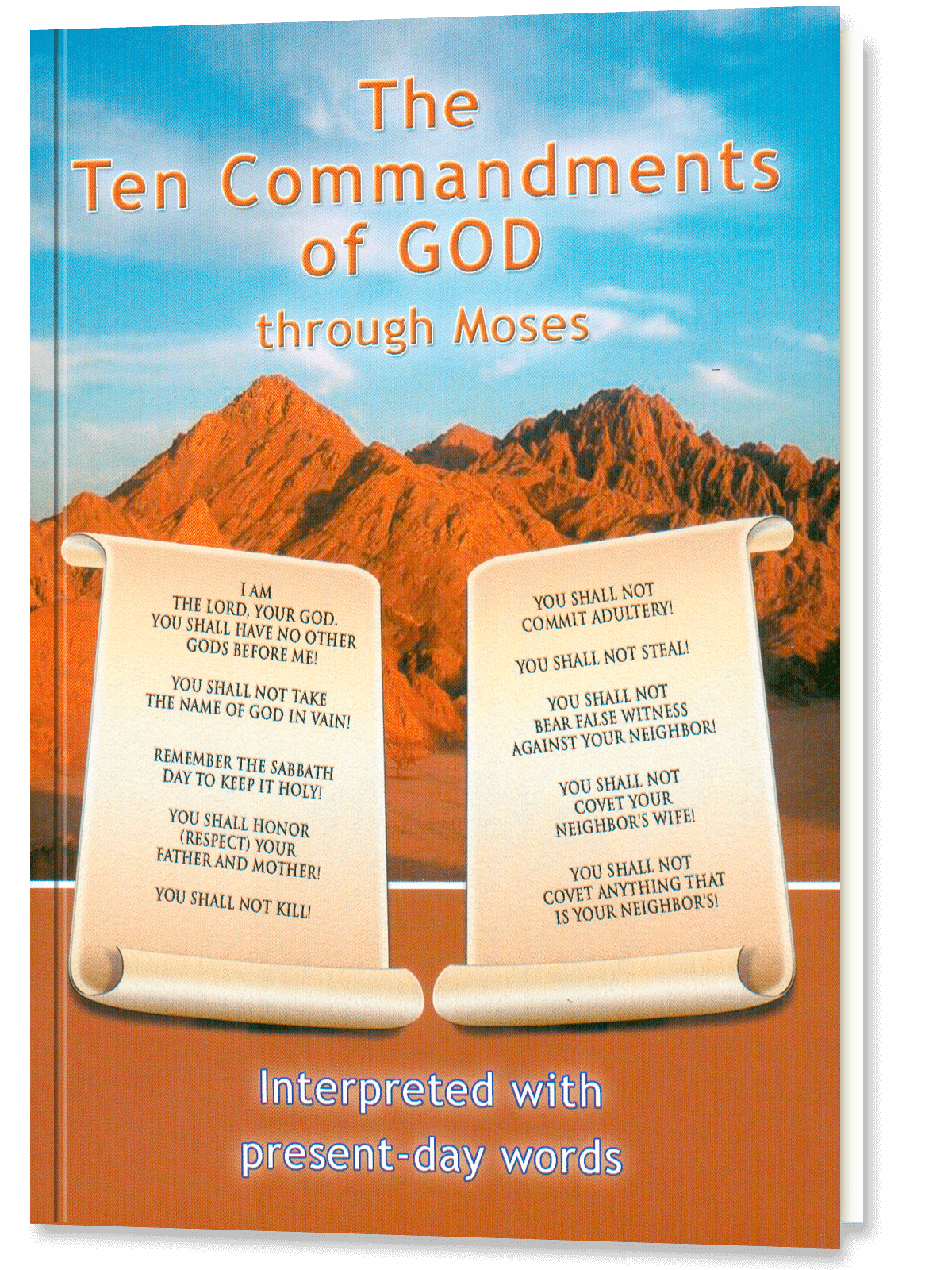 The Ten Commandments of God through Moses