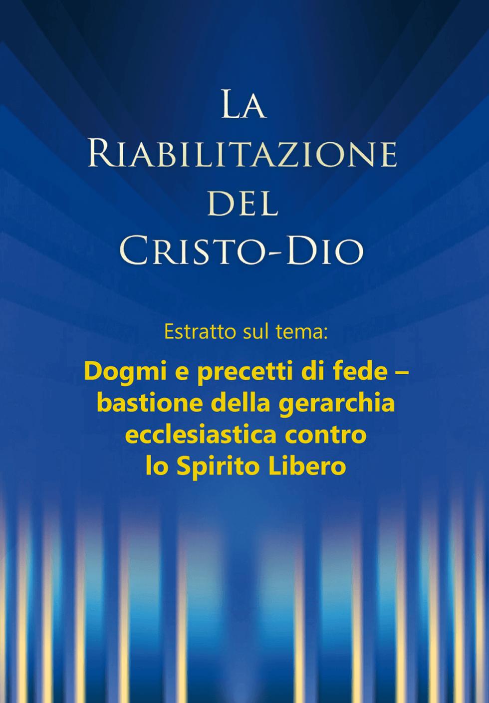 PDF: La riabilitazione - Estratto dal capitolo: Dogmi e precetti di fede